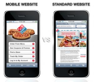 mobile website versus desktop website